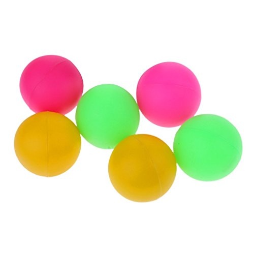 Palline per Racchette Racchettoni da Spiaggia mare campagna lago parco giochi tennis ping pong 4 palline Palle Colorate di js