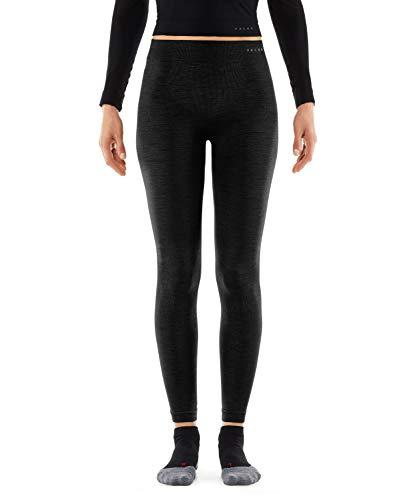 FALKE Damen Wool Tech Long Tights, Leggings mit Merinowolle, Atmungsaktive Funktionsunterwäsche, 1 er Pack, Schwarz (Black 3000), L