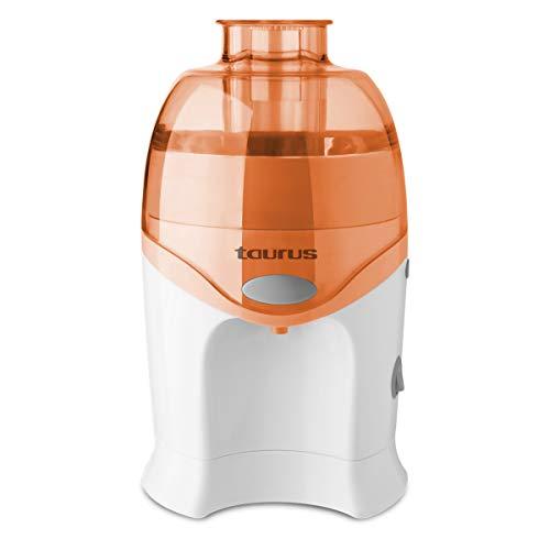 Taurus LC 640 - Licuadora centrifuga con sistema de vertido continuo, 250 W, rutas y verduras, Filtro de acero inoxidable, Desmontable, Fácil limpieza, Naranja (924724000)