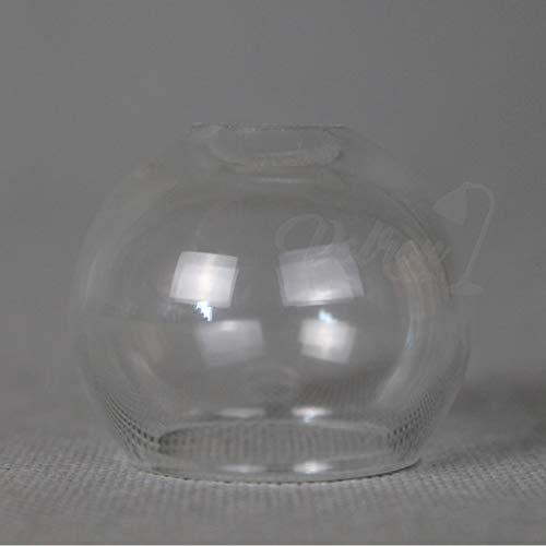 Lampenschirm Glaskugel Halbkugel Ø46mm Höhe 40mm G4 Klarglas Leuchtenglas snowball Harco loor