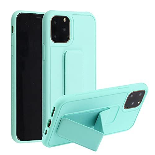 Suhctup Anti-caída Silicona Funda Compatible con Xiaomi Realme 6 Pro,Color Puro Moda Antigolpe Carcasa con Magnética Soporte para Teléfono de Coche, Soporte Plegable de Pulsera