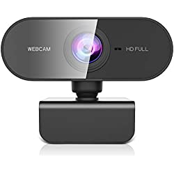 NIYPS Webcam per PC con Microfono Full HD 1080P Webcam USB per PC Fisso,Laptop y Mac,USB 2.0 Videocamera per Videochiamate, Studio, Conferenza, Registrazione, Gioca a Giochi e Lavoro a Casa