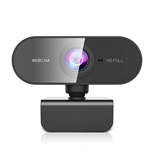 NIYPS webcam met microfoon, HD 1080P Streaming Webcam voor pc, MAC, laptop, Plug and Play USB-camera voor Youtube, Skype Video Calling, Studeren, Conferentie, Gaming met roterende clip