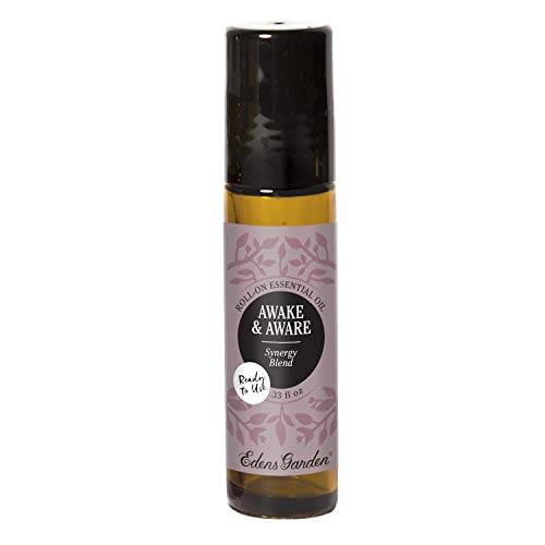 Awake & Aware Synergy Blend Essential Oil by Edens Garden - 10 ml Roll-On