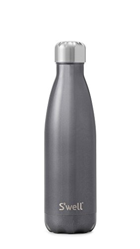 S'well Stainless Steel Water Bottle - 17 Fl Oz - Smokey Eye - Triple-Layered Vacuum-Insulated Containers Keeps Drinks Cold for 41 Hours and Hot for 18 - with No Condensation - BPA Free Water Bottle