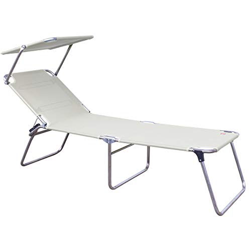 Amigo Sun Chaise longue 3 pieds Blanc 40