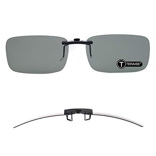 TERAISE Polarisierte Sonnenbrille mit Clip über Brillen Blendschutz UV404 für Männer Frauen Fahren Reisen Outdoor Sport (green)
