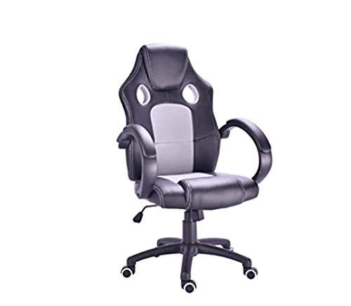 Hhlwl HHLWL- Silla de oficina giratoria con asiento ergonómico de malla transpirable con reposabrazos plegables, función cuna ajustable en altura (negro)