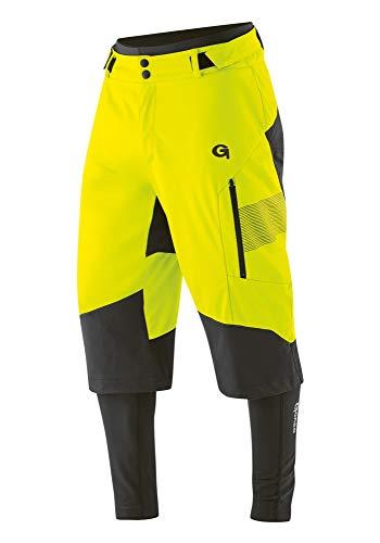 Gonso Sirac 3in1 Softshell Hose Pad Herren Safety Yellow Größe L 2020 Fahrradhose
