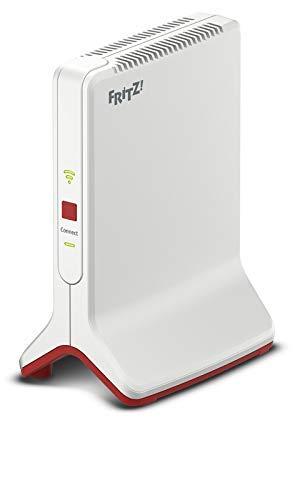 AVM FRITZ!WLAN Repeater 3000 International - Ripetitore / extender WiFi AC + N, Triband (1.733 Mbps e 886 Mbps / 5 GHz), WiFi N, Mesh, WiFi Access Point, 2 porte Gigabit LAN, WPS, interfaccia italiano