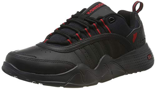 K-Swiss CR-Castle, Zapatillas para Hombre, Schwarz Black Ribbon Red 005, 41 EU