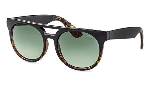 Filtral Runde Sonnenbrille/Nachhaltige Flat-Top Sonnenbrille für Damen mit Doppelsteg F3072221
