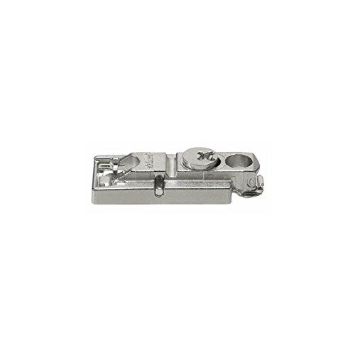 BLUM CLIP Montageplatte gerade, Spax-Schrauben, HV: Exzenter, Distanz 0 mm, Höhe 8,5mm