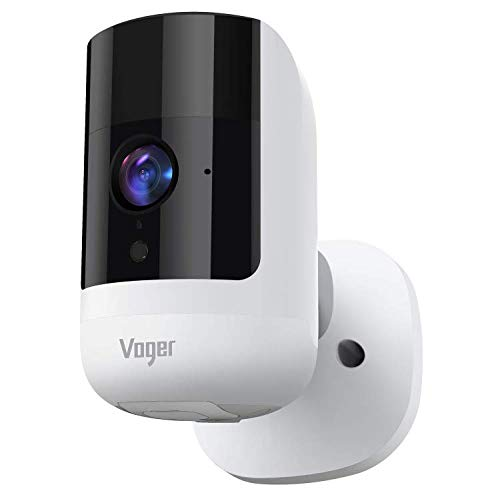 Voger Wireless Security Camera Outdoor/Indoor, Rechargeable Battery-Powered 6700mAh camera, 1080P Wifi Camera with Dual-PIR Motion Detection, 160°Wide Angle, Night Vision, 2-Way Audio, IP65 Waterproof