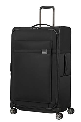 Samsonite Airea Luggage- Suitcase, Spinner L Expandable (78 cm - 120 L), Black (Black)