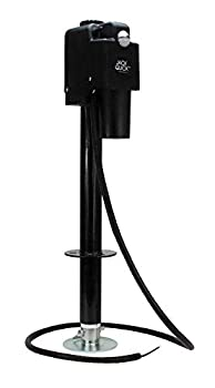 Quick Products JQ-3500B Power A-Frame Electric Tongue Jack - 3,650 lbs Lift Capacity Black