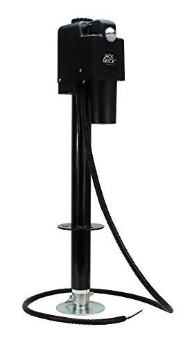 Quick Products JQ-3500B Power A-Frame Electric Tongue Jack - 3,650 lbs. Lift Capacity, Black