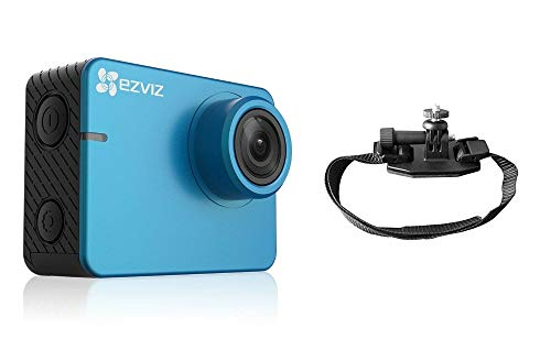 ezviz S2Lite Sport & Dash Cámara Bike, resolución Full HD, WiFi, Bluetooth 4.0, Modo Sport y guía, Soporte Casco de Bicicleta Incluido, Azul