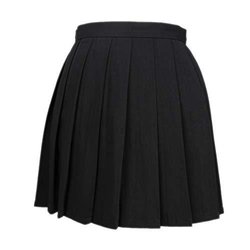DQCUTE Frauen Mädchen Kurze Hohe Taille Skater Tennis Schule Rock Plissee Mädchen Uniform Mini Röcke Freizeit A-Linie Basic Faltenrock Small