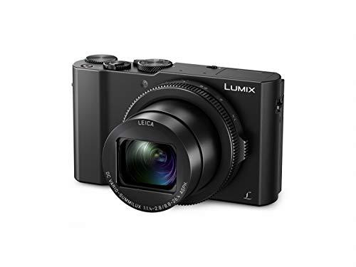 Panasonic DMC-LX15EG-K Lumix Premium Digitalkamera (20,1 Megapixel, Leica DC Vario Summilux Objektiv F1.4-2.8/24-72mm) & Amazon Basics Kameratasche für Kompaktkameras, groß, 3.9 x 2.4 x 5.7 Zoll