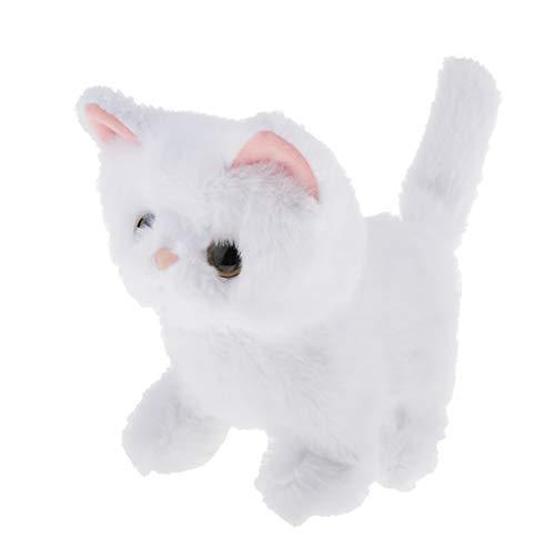 perfeclan Elektronische Plüschkatze Kuscheltiere Katze mit Funktion Intelligentes Spielzeug Stofftier für Kinder Junge Mädchen - Persische Katze