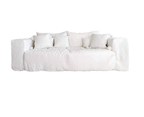 Ibiza Linen Sofa - 245cm | 100% Lino |3 Plazas | Máxima Comodidad