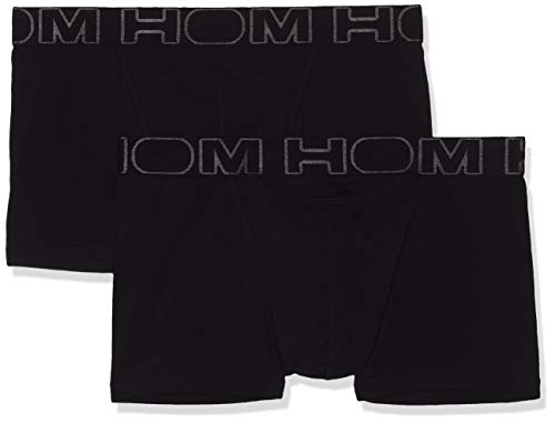 HOM - Herren - Boxer Briefs 2-Pack \'Boxerlines HO1\' - Retroshorts - All Black - Grösse L
