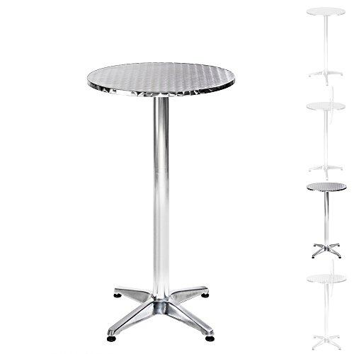 TecTake Aluminium Bistrotisch rund höhenverstellbar - Diverse Modelle - (Marc | Nr. 401490)