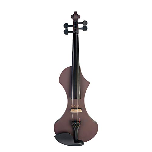 Violín eléctrico 4/4 violín de madera maciza silenciosa activa, 6 colores para...