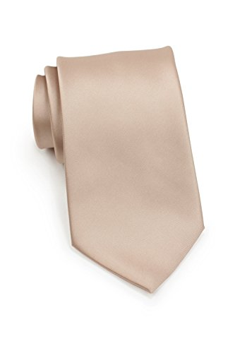 PUCCINI schmale Krawatte│6cm skinny slim Tie/Hochzeitskrawatte/Plastron/Schlips │ uni/einfarbig: Blau, Rosa, Rot, Schwarz, Grün, Türkis, Orange, u.v.w. (Hellbraun)