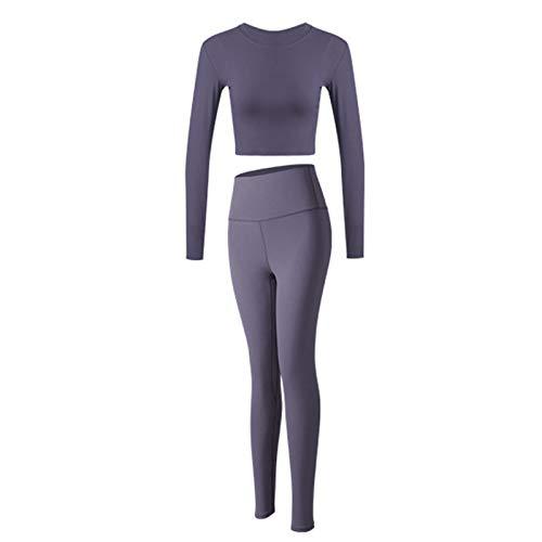 mama stadt Yoga Outfit Damen Sportanzüge Jogginganzug Sport Sets Langarm Sweatshirts + Yogahosen Bekleidungssets 2 Stück Freizeitanzug Sportswear