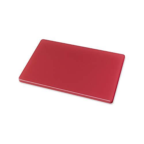 ORYX 5800500 Tabla Cortar Polietileno 30x20x1,5 cm. Color Rojo, Neutro