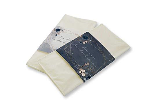 50 Stück Papierbanderolen Freudentränen Taschentücher Hochzeit Dark Blue Gold (nur Banderolen)