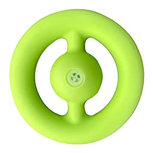 Snapper Fidget Toy, Finger Sensory Fidget Toy, Party Popper Noise Maker, Grab and Snap Hand Toy, Silicone Grip Ring Decompression Toys, Exercise Arm Muscles. (Green Sound)