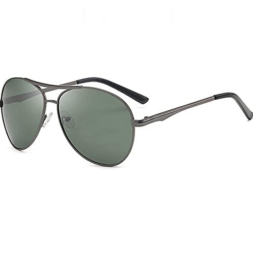 TTWLJJ Gafas de Sol polarizadas Hombre Mujere UV400 Protection, Retro/Aire Libre Deportes Golf Ciclismo Pesca Senderismo,Plata