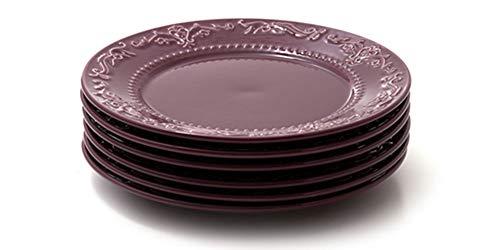 Jogo com 6 pratos rasos, Sumac, Coleção Especiarias, Acervo Panelinha