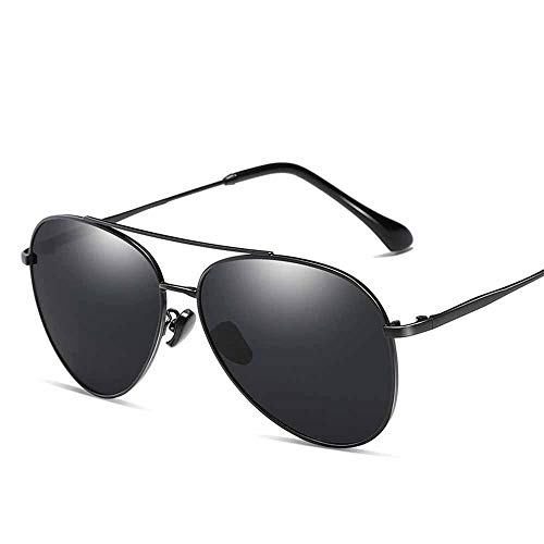 QMU Gafas de sol de piloto polarizadas para hombre Montura de metal...
