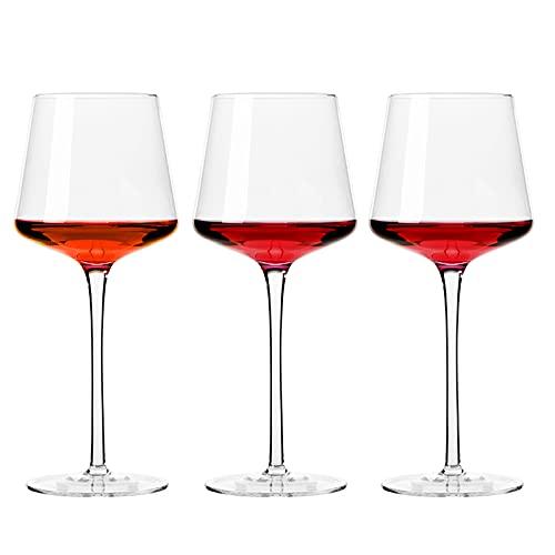 Krrinnhy Juego De 3 Copas Para Vino Tinto - 600ML Vasos De C