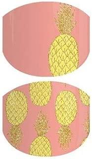 Pineapple Burst Jr - Jamberry Nail Wraps - Juniors/Child Size - Full Sheet - Pineapples on Coral Peach