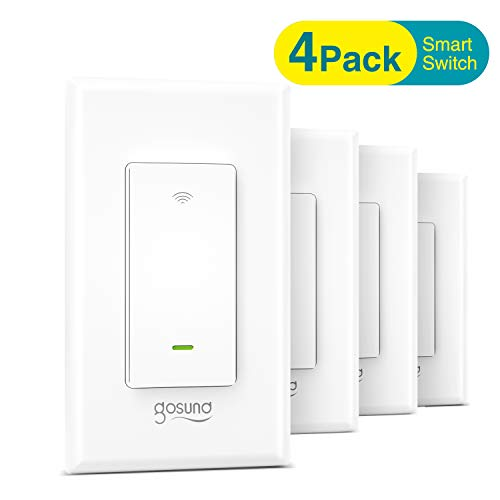 Gosund Smart Light Switch, In-wall Wifi Smart Switch...