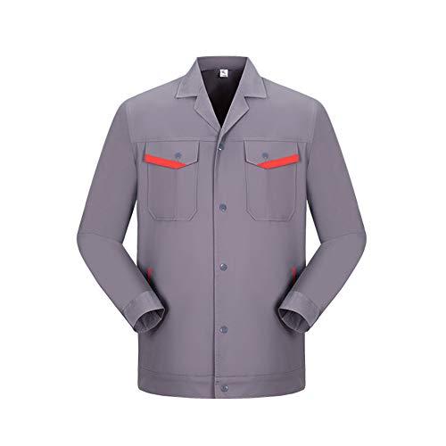 YJKJ Chaqueta de trabajo, chaqueta de trabajo multifuncional, fábrica de primavera y otoño de algodón puro, construcción, reparación de coche, XL