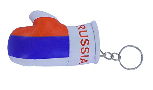 Schlüsselanhänger Schlüsselanhänger-Russland Flagge Russland Flagge russia-Boxhandschuh Schlüsselanhänger