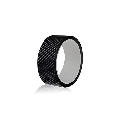 Carbon Fiber Black Car Door Sill Scuff Plate Cover Anti Scratch Sticker Car Sill Protectors Strips Rearview Mirror Door Side Waterproof Decoration, Suitable for Any Car(3cm*5m Black)