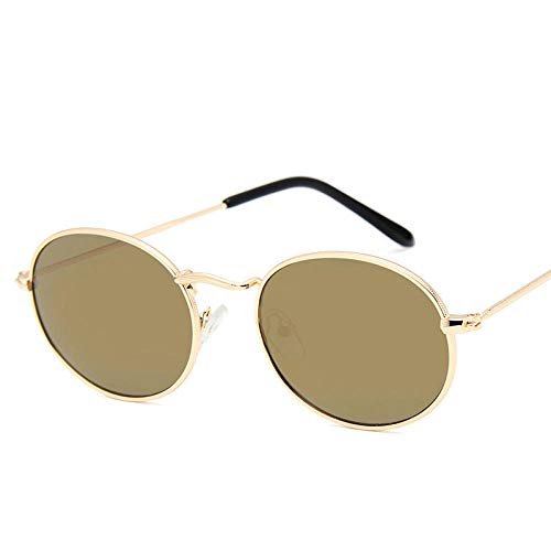 DLSM Gafas de Sol de la Vendimia Gafas de Sol Retro de Las Gafas de Sol de Las Gafas de Sol Vintage adecuadas para el Trekking de Fiesta de Playa-Oro de Oro