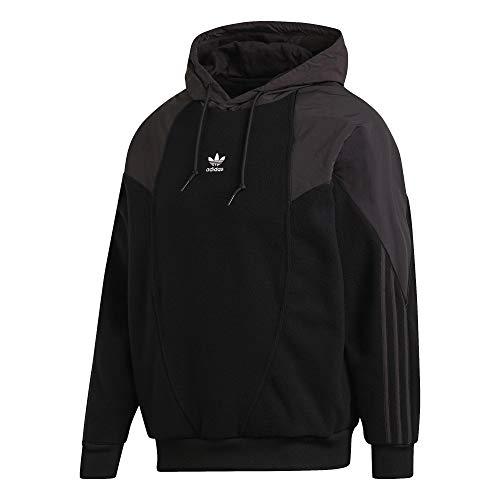 adidas Big Trefoil - Sudadera de forro polar con capucha negro XXL
