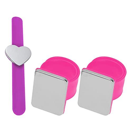 Yardwe 3 Piezas de Pulsera de Costura Magnética Aguja Pin Cojín Titular de Silicona Muñeca Pin Titular de Costura Pin Pulsera Banda