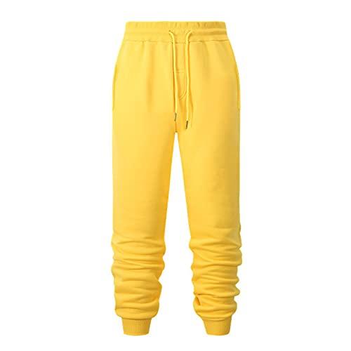 Pantalones Casuales para Hombre, Pantalones Deportivos Casuales de Moda para Correr, Pantalones Deportivos Sencillos con cordón de Color sólido, Cintura elástica, cómodos Pantalones Deportivos L