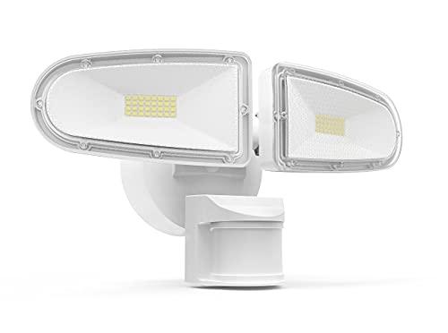 JJC 3700LM 32W LED Security Lights Motion Sensor Flood Light, LED Motion Sensor Outdoor Lights Fixture, Waterproof IP65,5700K Super Bright Motion Detector Lights for Garage, Porch, Backyard