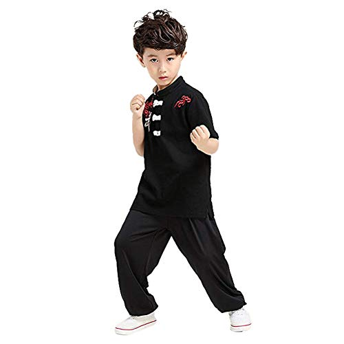 Meijunter Chinois Kung Fu Costume - Tai Chi Uniforme Arts Martiaux Performance Concurrence Vêtements
