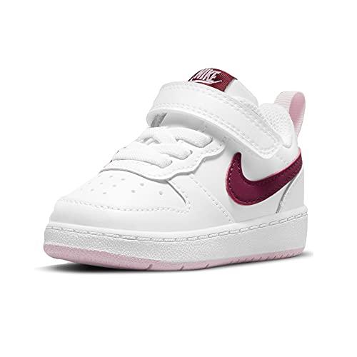 Nike Court Borough Low 2, Scarpe da Ginnastica, Bianco Bordeaux, 25 EU
